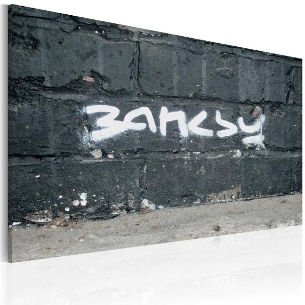 Obraz - Banksy: podpis (60x40 cm) A0-N1799