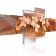 Obraz - Biała orchidea na jesiennym tle A0-N1336