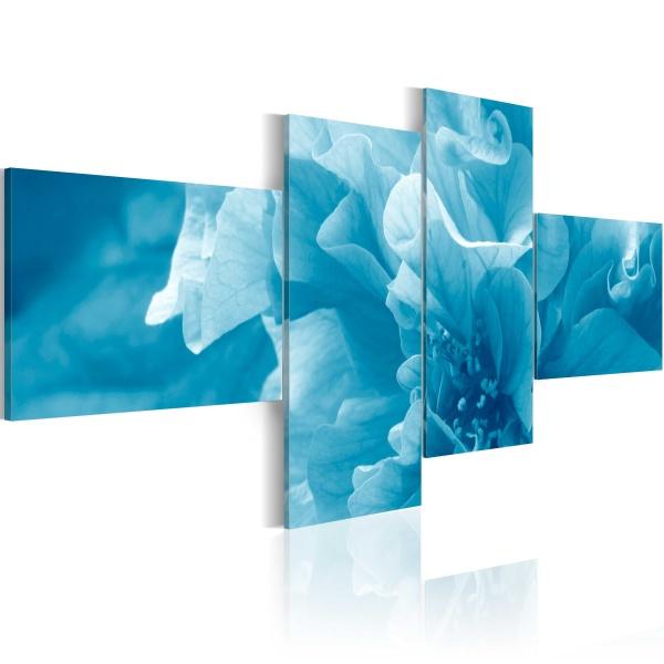 Obraz - Błękitny kwiat azalii (100x45 cm) A0-N1481