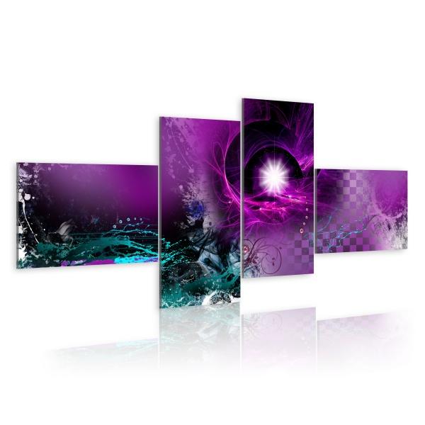 Obraz - Błysk fioletu (100x45 cm) A0-N1624