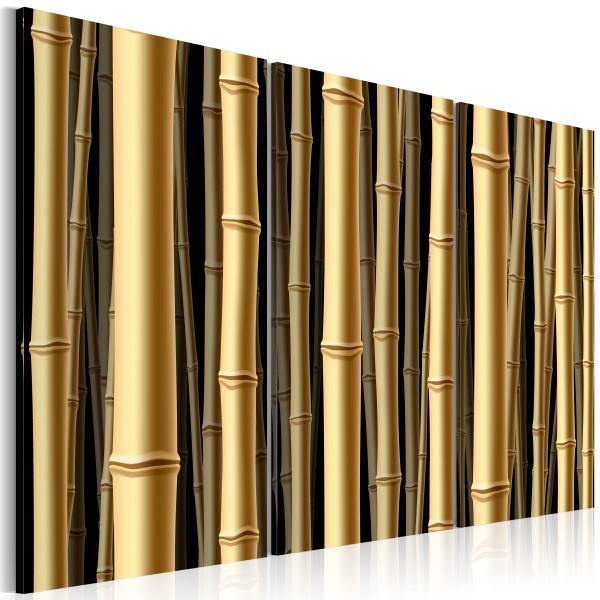 Obraz - Brązowe łodygi bambusa (60x40 cm) A0-N1496