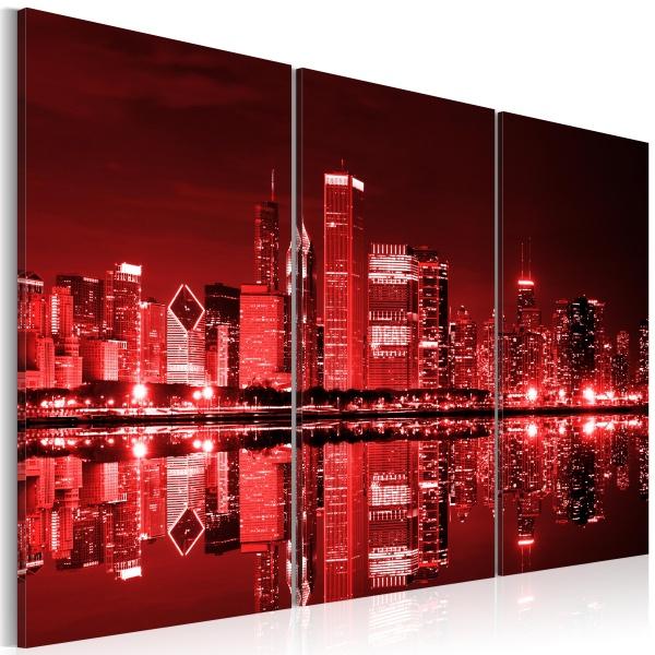 Obraz - Chicago w intrygującej kolorystyce (60x40 cm) A0-N1383