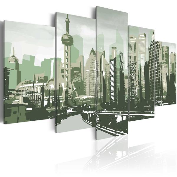 Obraz - Chiński Szanghaj (100x50 cm) A0-N1670