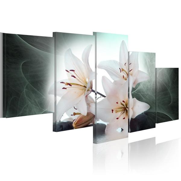 Obraz - Chłodne lilie (100x50 cm) A0-N1428