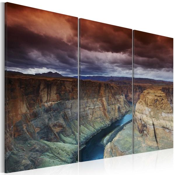 Obraz - Chmury nad Wielkim Kanionem Kolorado (60x40 cm) A0-N1549