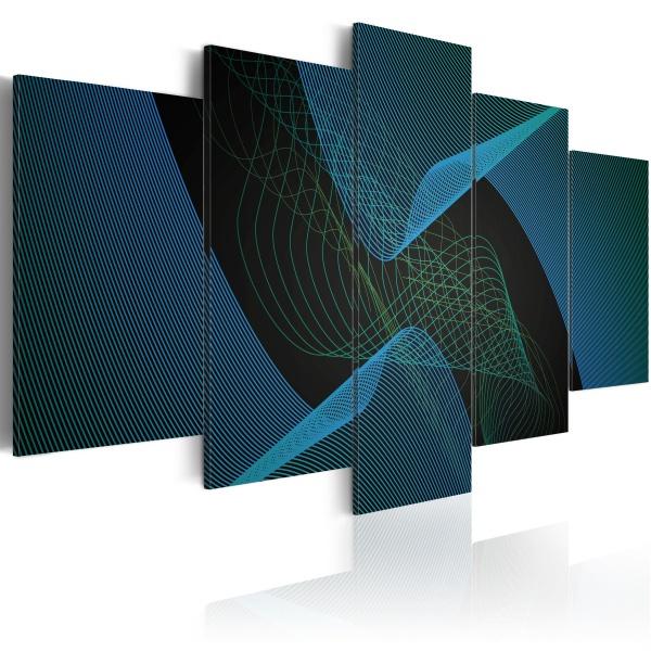 Obraz - Ciemna abstrakcja (100x50 cm) A0-N1689