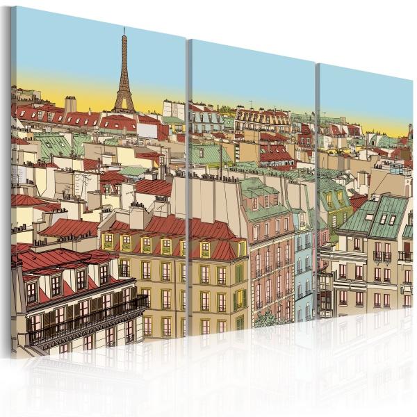 Obraz - Cukierkowy Paryż (60x40 cm) A0-N1776