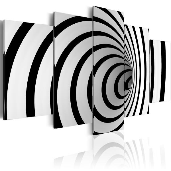 Obraz - Czarno-biała dziura (100x50 cm) A0-N1426