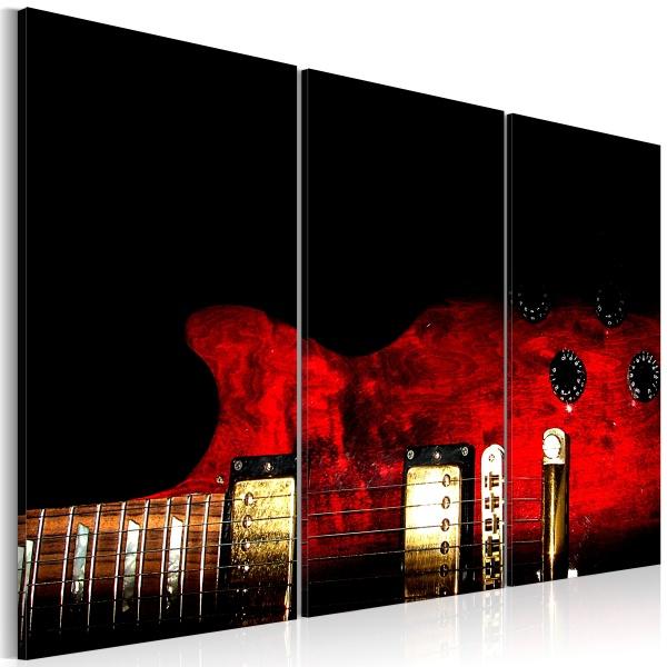 Obraz - Czerwona gitara (60x40 cm) A0-N1510
