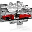 Obraz - Czerwony samochód w stylu retro na Pustyni Kolorado - 5 części A0-N1075