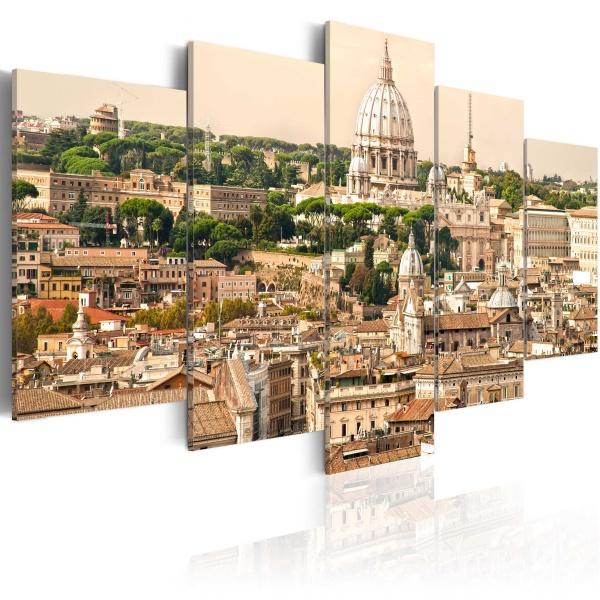 Obraz - Dachy Wiecznego Miasta (100x50 cm) A0-N1517