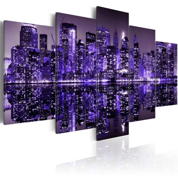 Obraz - Deep deep purple - NYC (100x50 cm) A0-N1752