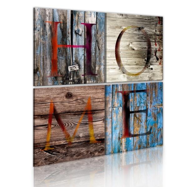 Obraz - Domek z drewna (80x80 cm) A0-N1836