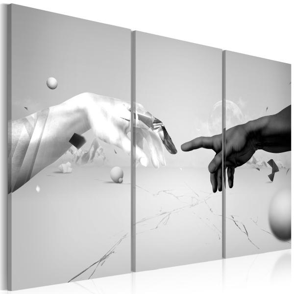 Obraz - Dotyk w czerni i bieli (60x40 cm) A0-N1838