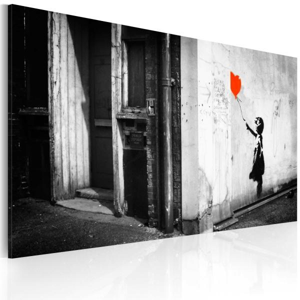 Obraz - Dziewczynka z balonikiem (Banksy) (60x40 cm) A0-N1787