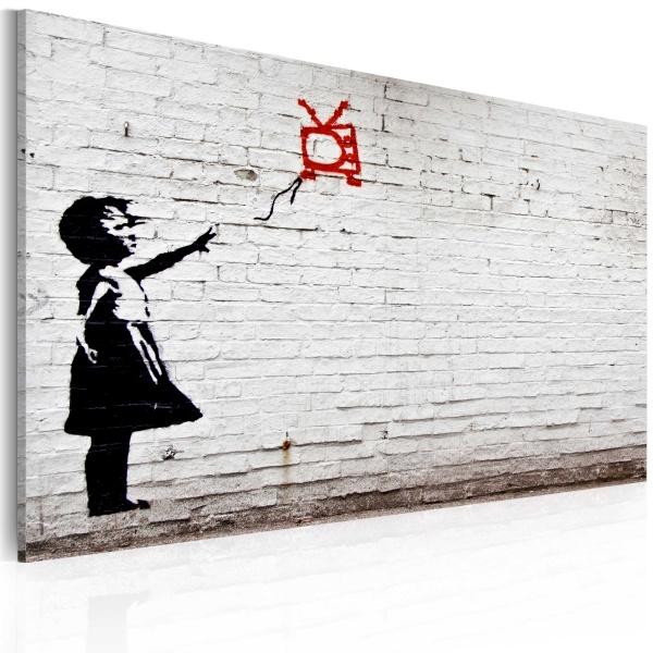 Obraz - Dziewczynka z telewizorem (Banksy) (60x40 cm) A0-N1818