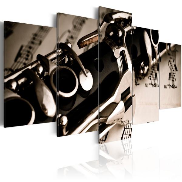 Obraz - Dźwięk klarnetu (100x50 cm) A0-N1507