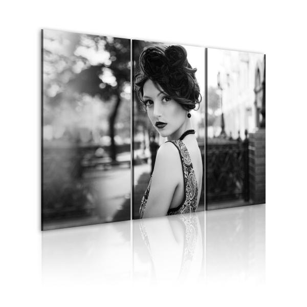 Obraz - Elegancka kobieta w stylu retro (60x40 cm) A0-N1502