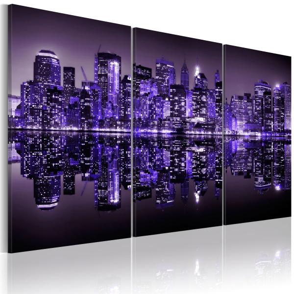 Obraz - Elektryzujący fiolet Manhattanu (60x40 cm) A0-N1734