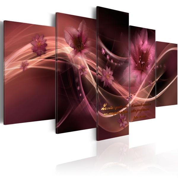 Obraz - Fioletowa delikatność (100x50 cm) A0-N1653