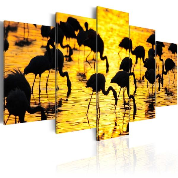Obraz - Flamingi nad morzem (100x50 cm) A0-N1532