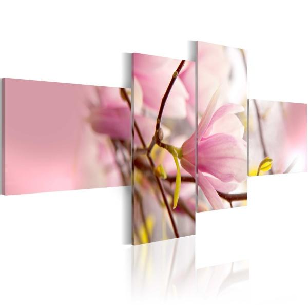 Obraz - Gałąź krzewu magnolii (100x45 cm) A0-N1597