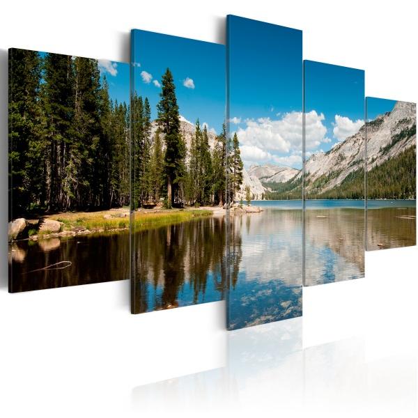 Obraz - Górskie jezioro wczesnym latem (100x50 cm) A0-N1558
