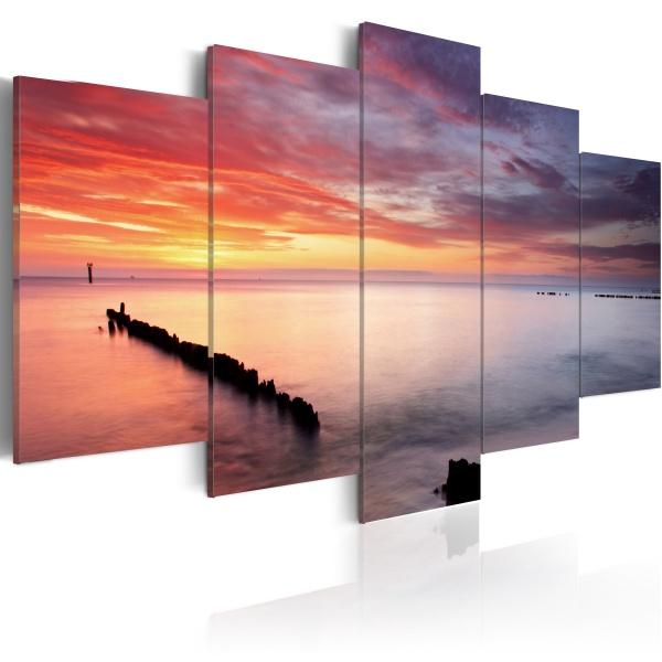 Obraz - Gra barw nad morzem (100x50 cm) A0-N1387