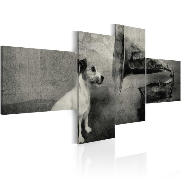 Obraz - Gramofon i piesek (100x45 cm) A0-N1504