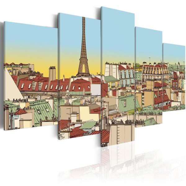 Obraz - Idylliczny obrazek Paryża (100x50 cm) A0-N1778