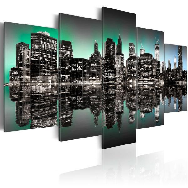 Obraz - Inspirujące światła Nowego Jorku - 5 części (100x50 cm) A0-N1833