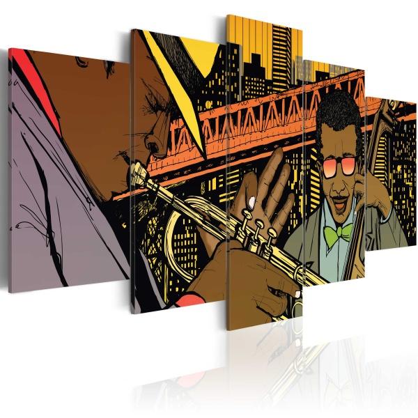 Obraz - Jazz w komiksie (100x50 cm) A0-N1727