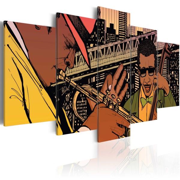 Obraz - Jazzowe granie - NYC (100x50 cm) A0-N1725