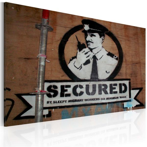 Obraz - Jesteśmy bezpieczni (Banksy) (60x40 cm) A0-N1790
