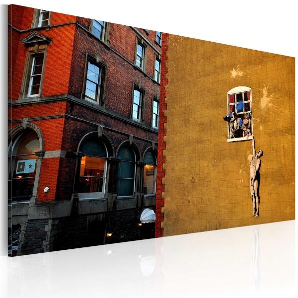 Obraz - Kochanek (Banksy) (60x40 cm) A0-N1789