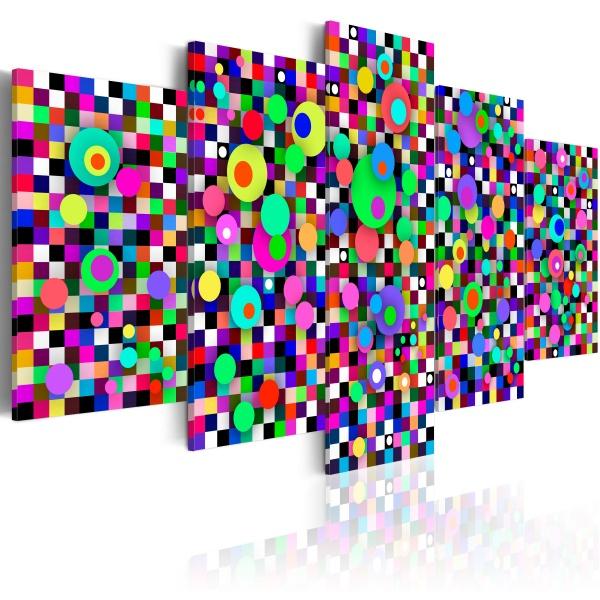 Obraz - Kolorowy zawrót głowy (100x50 cm) A0-N1626