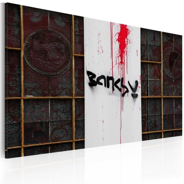 Obraz - Krew (Banksy) (60x40 cm) A0-N1807
