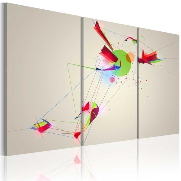 Obraz - Kształty & kolory (60x40 cm) A0-N1451
