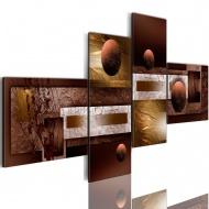 Obraz - Kule i tekstury (100x46 cm)