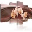 Obraz - Kwiaty orchidei na falującym tle A0-N1339