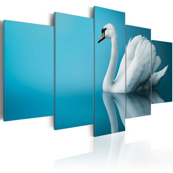 Obraz - Łabędź w błękicie (100x50 cm) A0-N1529