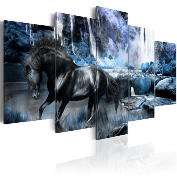 Obraz - Lazurowy wodospad (100x50 cm) A0-N1667