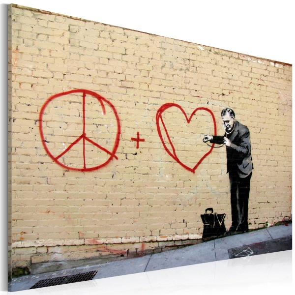 Obraz - Lekarz pacyfista (Banksy) (60x40 cm) A0-N1814