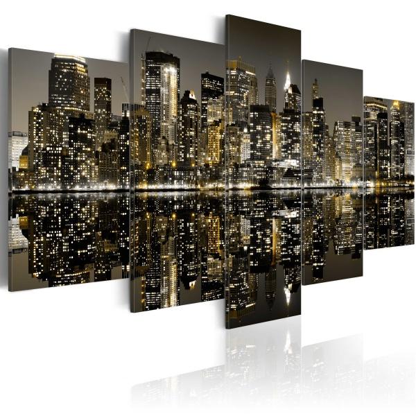Obraz - Magia nowojorskiej nocy (100x50 cm) A0-N1758