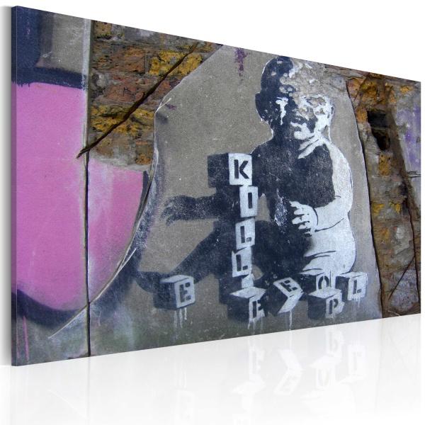 Obraz - Mały zabójca (Banksy) (60x40 cm) A0-N1802