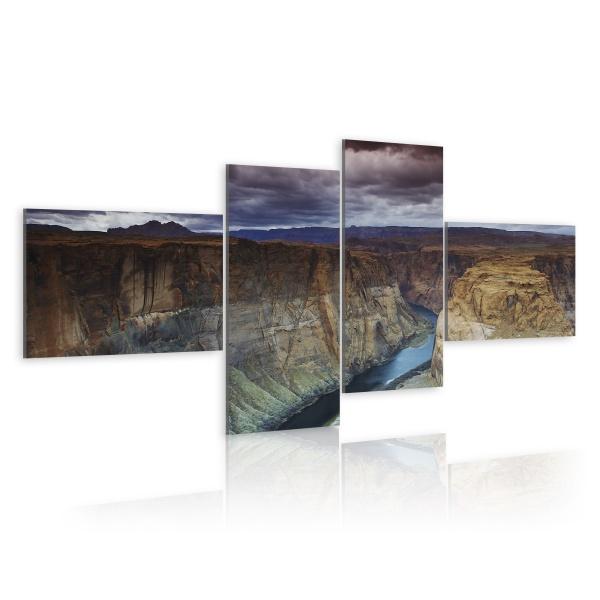 Obraz - Marmurowy kanion (100x45 cm) A0-N1550