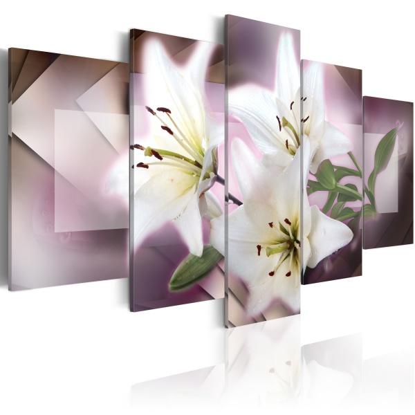Obraz - Marzenia i lilie (100x50 cm) A0-N1699