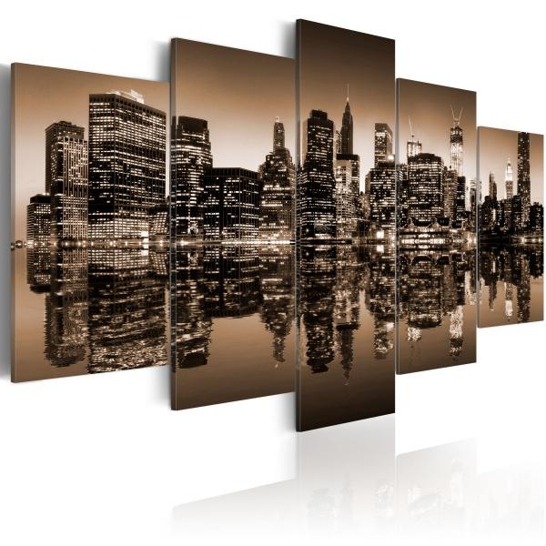 Obraz - Melancholijny Nowy Jork - 5 części (100x50 cm) A0-N1834