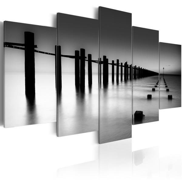 Obraz - Melancholijny widok na morze (100x50 cm) A0-N1382