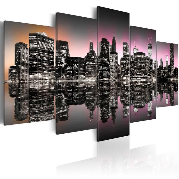 Obraz - Miasto, które nigdy nie zasypia - NYC - 5 części (100x50 cm) A0-N1832